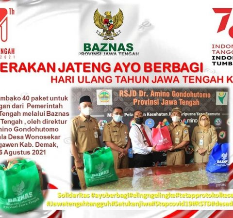 Penyerahan Sembako 40 paket untuk Desa Binaan