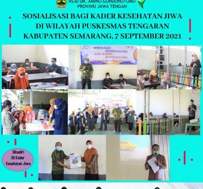 Sosialisasi Bagi Kader Kesehatan Jiwa Di Wilayah Puskesmas Tengaran, Kabupaten Semarang